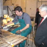 Minister Mr. Lubomir Jahnatek in our factory Glass LPS.