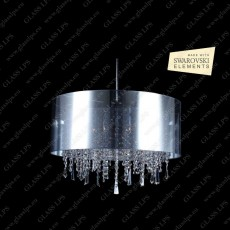 L17 701/06/3, 3-K SWAROVSKI EL.; F tube, shade (transparent), V2, Ni