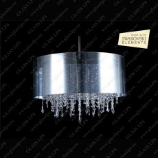 L17 701/06/3, 3-H SWAROVSKI EL.; F tube, shade (transparent), V2, Ni